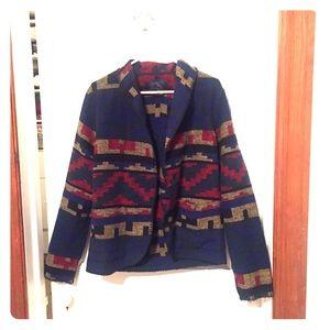 Navajo printed wool jacket size M